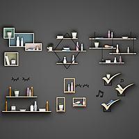現代木質墻隔組合3d模型
