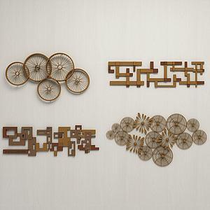 現代金屬墻飾組合3d模型