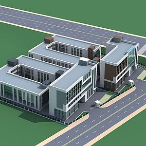 综合楼3d模型