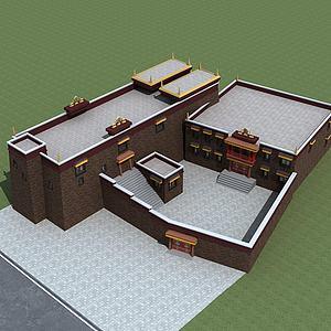 藏族寺庙模型