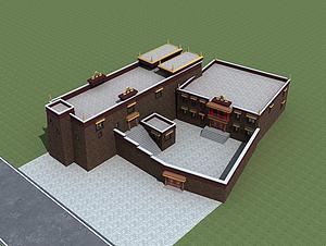 藏族寺廟模型3d模型