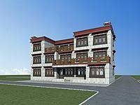 藏族別墅3d模型