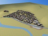 藏族村莊規劃3d模型