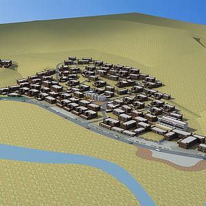 藏族村庄规划模型