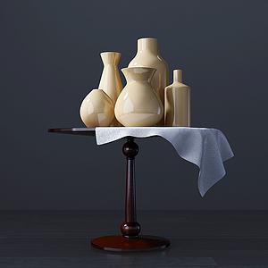3d玉色<font class='myIsRed'>花瓶</font>組合模型