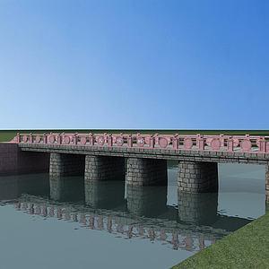 石头桥模型