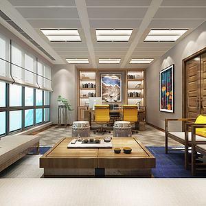 新中式经理办公室模型3d模型