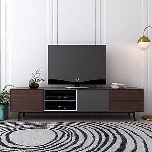 现代钢制电视柜模型3d模型