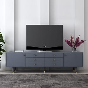 现代简约轻奢电视柜模型3d模型