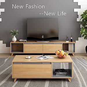 北欧电视柜储物柜模型3d模型