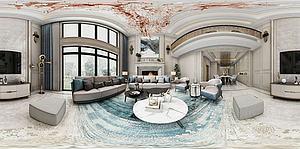 現代客餐廳空間模型3d模型