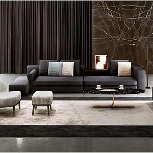 北欧客厅会客室模型