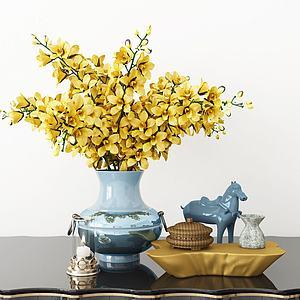 現代花瓶擺件組合模型3d模型