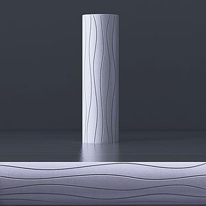 現代簡約花瓶模型3d模型
