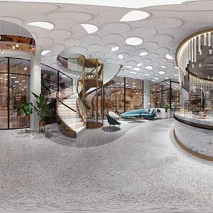 现代风格卖场空间模型