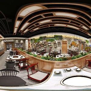 现代风格餐饮店模型