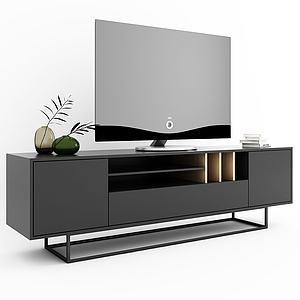 现代简约风电视柜模型3d模型