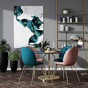 现代休闲桌椅模型3d模型