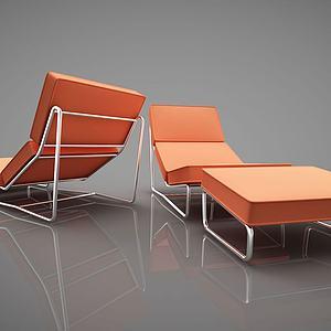 现代风格休闲椅模型