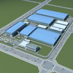 厂区规划模型