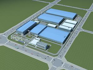厂区规划模型3d模型