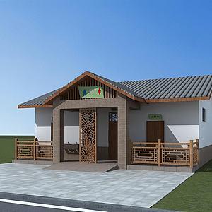 中式公共厕所模型