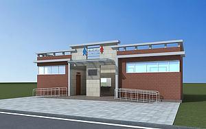 现代公共厕所模型3d模型
