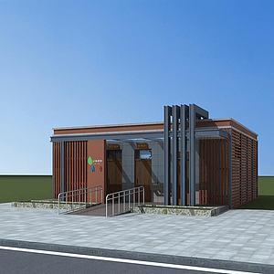 现代公共厕所3d模型