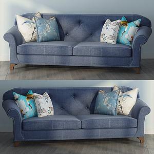 现代多人沙发模型