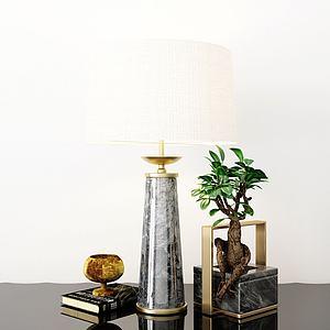 台灯摆件装饰品组合模型