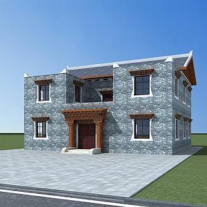 民居模型3d模型