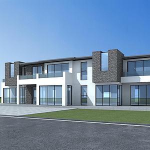 現代別墅模型3d模型