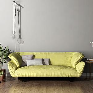 北欧简约沙发模型