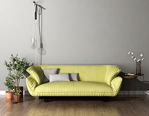 3d北欧简约沙发模型