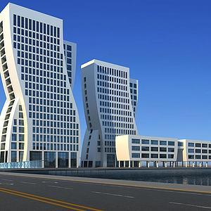 商务大厦模型