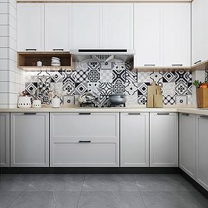 北歐廚房櫥柜模型