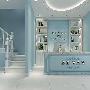 現代美容院3d模型