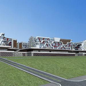 现代城市综合体3d模型