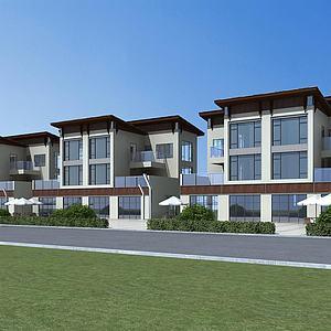 现代风格别墅模型3d模型