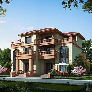 排屋,別墅模型3d模型