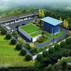 农村供水厂3d模型