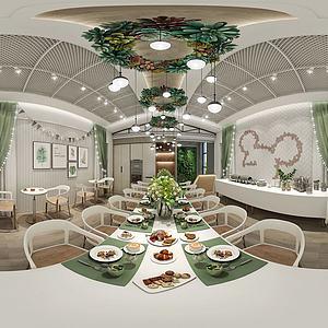休闲餐厅全景模型