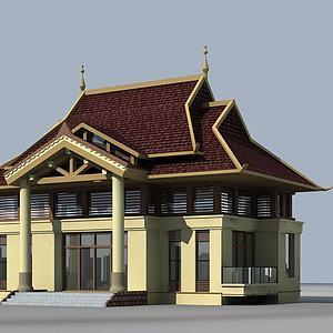 泰式别墅3d模型