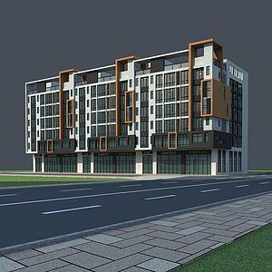 现代多层住宅3d模型