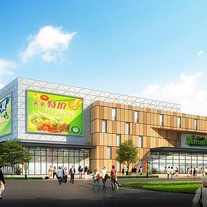 农贸市场超市物联市场3d模型