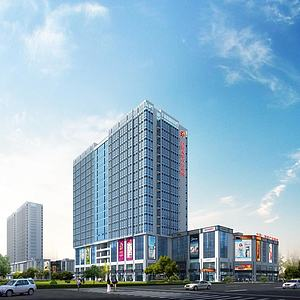 办公楼高层建筑模型3d模型