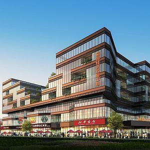 现代办公楼商业中心模型3d模型