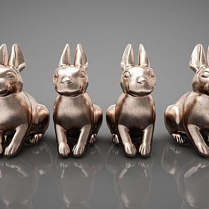现代风格动物雕塑模型