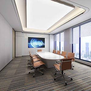 现代会议室模型3d模型