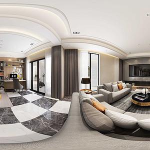 现代餐客厅模型3d模型